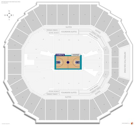 charlotte hornets seating guide spectrum center time warner cable arena rateyourseatscom