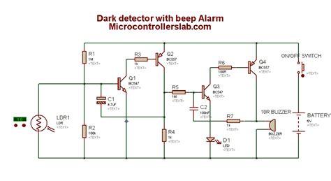 Atuomatic Dark Detection Circuit With Alarm