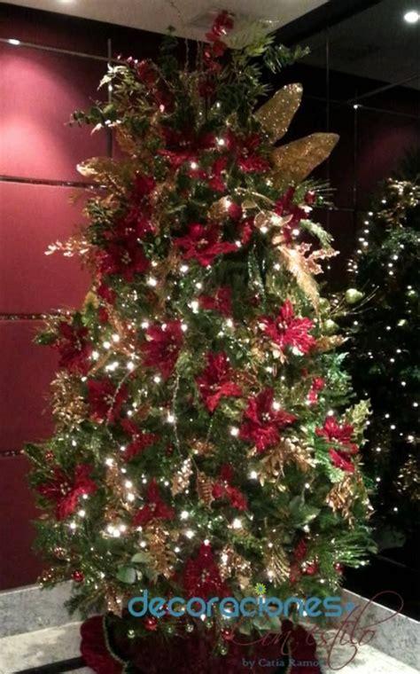 193 rbol de navidad decorado en color y dorado 2013