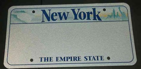 New York Sample Graphic License Plate Blank Prototype