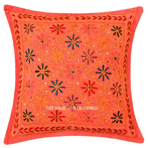 Decorative Pillows For by Decorative One Of A Unique Floral Embroidered