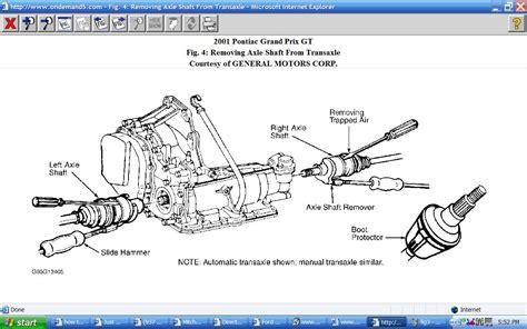 active cabin noise suppression 2001 pontiac grand prix electronic valve timing removing transaxle from a 2000 pontiac grand prix having a problem removing power brake