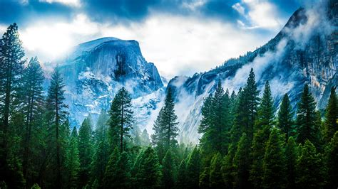 mountains fog hd nature  wallpapers images