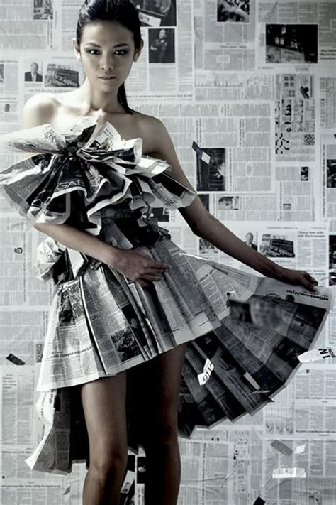 creative newspaper craft fashion ideas hative