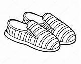 Cartoon Coloring Shoe Slip Children Premium sketch template