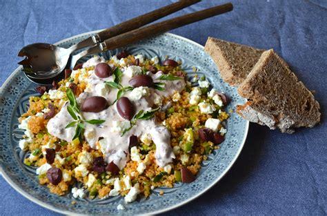 couscous salat griechische art ye olde kitchen food