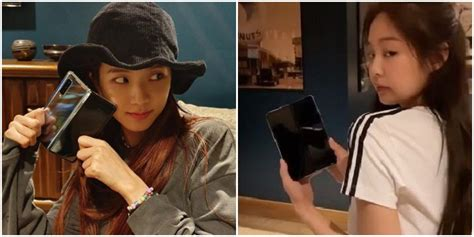 samsung gifts the new galaxy fold to blackpink members allkpop