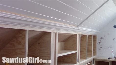crown moulding on angled ceiling sawdust girl174
