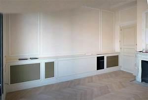 Meuble Cache Radiateur : meuble tv sur mesure bas menuiserie desnoyer ~ Dode.kayakingforconservation.com Idées de Décoration