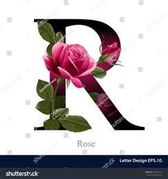 abc design zubehã r letter r vector alphabet flower stock vector 278401331