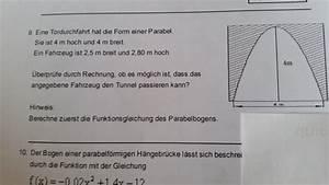 Quadratische Funktion Berechnen : auto quadratische funktion tunnel torduchfahrt f r fahrzeug mit breite und h he ~ Themetempest.com Abrechnung