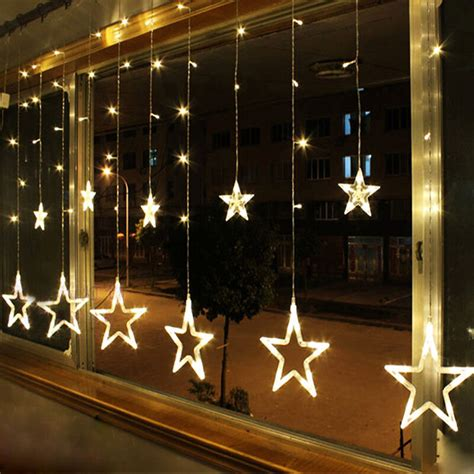 lighted window displays warm white 12 twinkling string lights window display 48led ebay