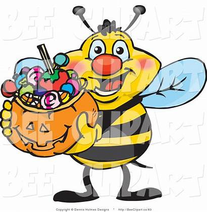 Halloween Trick Candy Clip Bee Basket Clipart