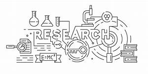 Research Log Template Research Riset Or Science Illustration Black And White