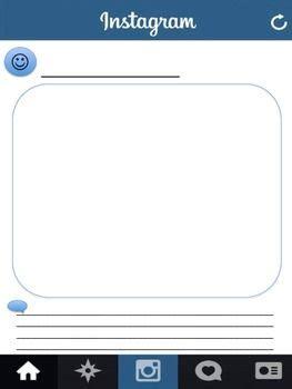 blank instagram template blank instagram worksheet