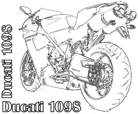 Transportation Motorcycle Coloring Sheets Printable Free