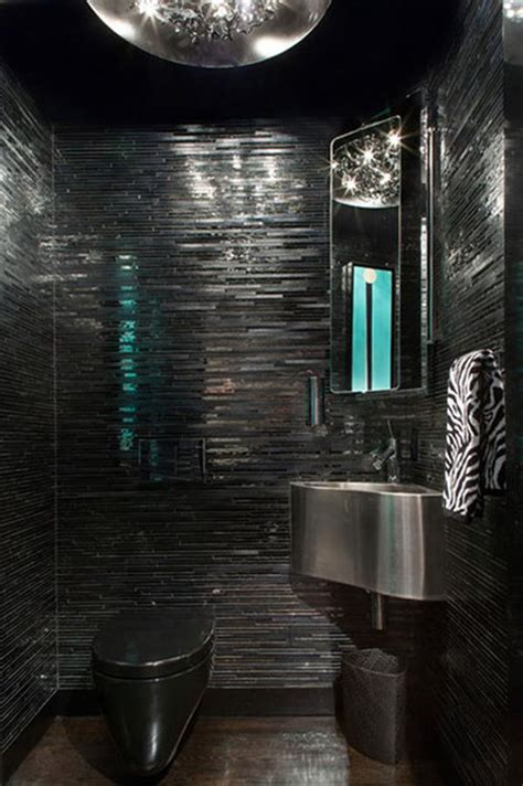 Modern Black Bathroom Ideas by Stylish And Modern Black Bathroom Decorations