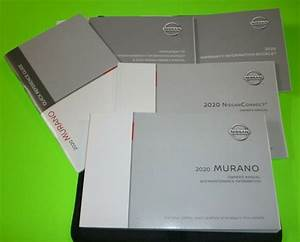 2020 Nissan Murano Owners Manual Set Guide 20  Case S Sv