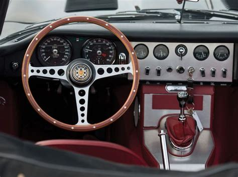 Jaguar E-type Roadster Dashboard With Polka Dot Pattern