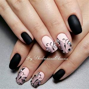 Black nail art designs nenuno creative