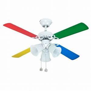 Ventilateur De Plafond Pour Enfants 92 Cm Pales