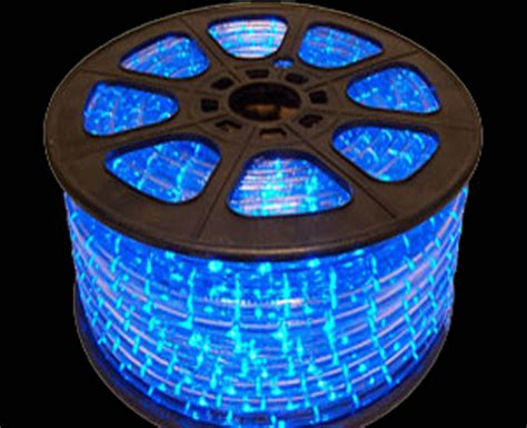 blue led rope light bulk spool