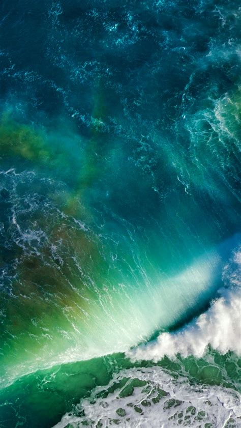 wallpaper waves sea ocean stock ios apple hd