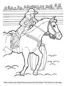dixie stampede coloring sheet lisa peanut barrel racing  images coloring pages