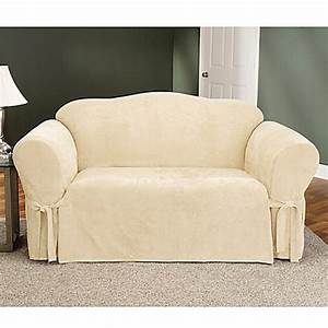 sure fitr soft suede loveseat furniture cover bed bath With sure fit furniture covers bed bath and beyond
