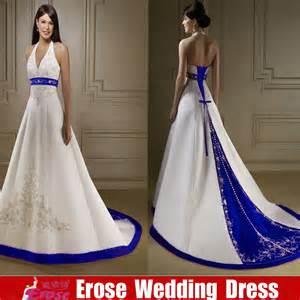 royal blue and white wedding dresses wedding dresses royal blue and white