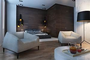 Creative, Studio, Apartment, Design, Ideas, With, Dark, Color, Shades