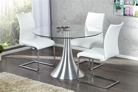 table 224 manger ronde en verre circular 110 cm