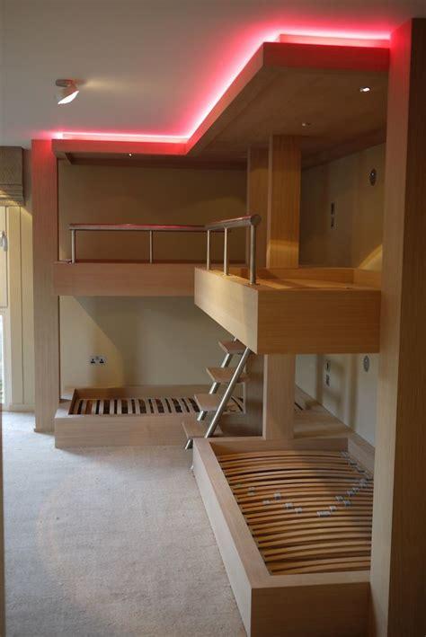 huge bespoke bunk beds  limed oak  integrated