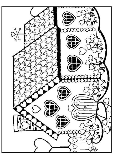 Daken Huizen Kleurplaat by Kleurplaat Huis 7681 Kleurplaten