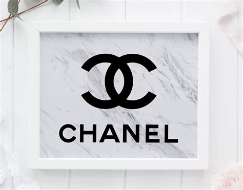 marble coco chanel room decor chanel wall marble