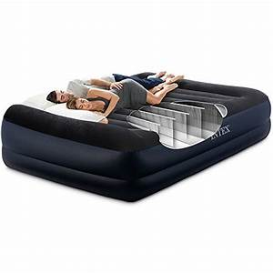intex dura beam series pillow rest raised airbed with With bed tech comfort rest pillow