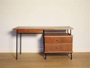 Bureau Moderniste Vintage Annes 50 Hitier