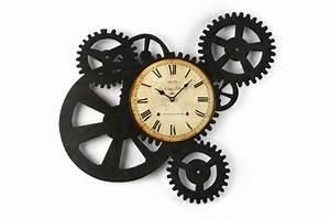 Horloge Pas Cher : horloge murale engrenage 51 x 54 cm horloge design pas cher ~ Teatrodelosmanantiales.com Idées de Décoration