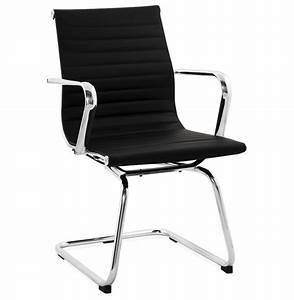 Chaise De Bureau : chaise de bureau design giga en similicuir noir fauteuil de bureau ~ Teatrodelosmanantiales.com Idées de Décoration