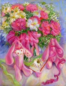 Pink Bunnies at Spring - by Erika Nelson from LATEST