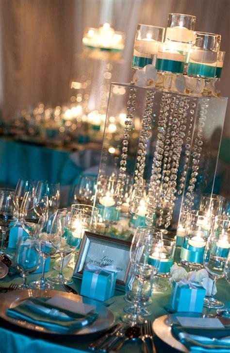 tiffany blue table decorations tiffany blue and gold vintage wedding reception decor