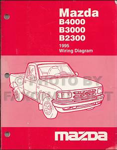 1995 Mazda Pickup Truck Repair Shop Manual Original B2300 B3000 B4000