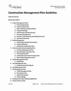 construction management plan guideline 2 15 12 With construction environmental management plan template