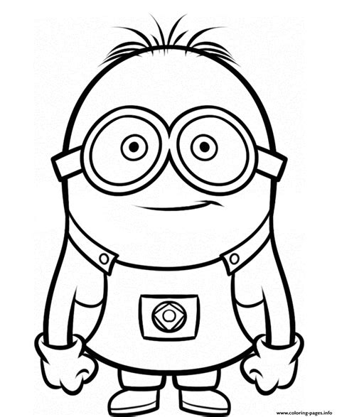 Smiley Minion Despicable Me Sb76d Coloring Pages Printable
