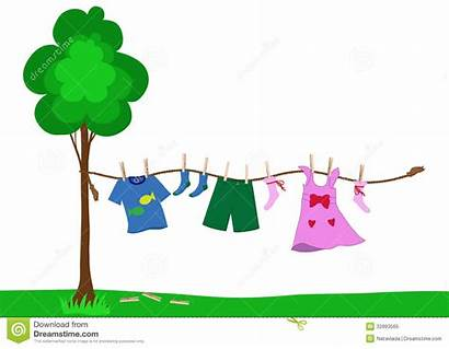 Clothes Drying Rope Clipart Laundry Kid Boy