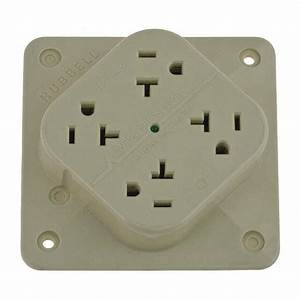 Hubbell Wiring Devi Polycarbonate Receptacle Quad 20a 5