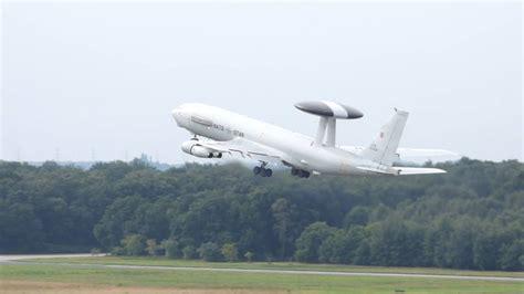 Boeing E3A AWACS at Geilenkirchen AB - YouTube