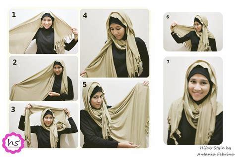 hijab tutorial   trend  memakai jilbab   mudah