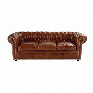canape convertible capitonne chesterfield 3 places en cuir With canapé 3 places cuir marron