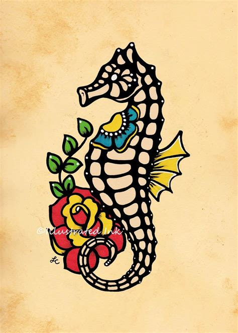 unique seahorse tattoos